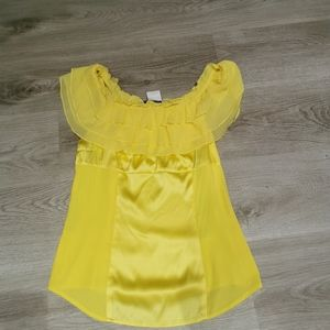 Marciano Silk Yellow top